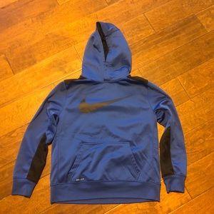 Boys Blue black Nike hoodie